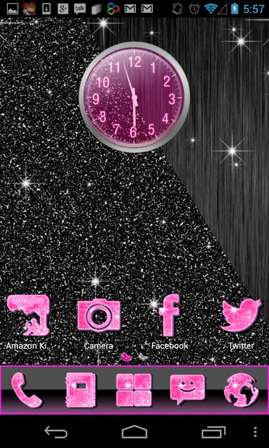 Pink Glitter Theme 4 Launchers - screenshot