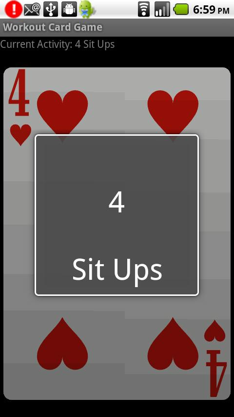 Workout Card Game- screenshot