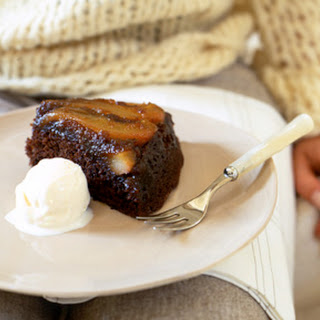 Upside-Down Pear Gingerbread Cake.