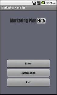 Marketing Plan App- screenshot thumbnail