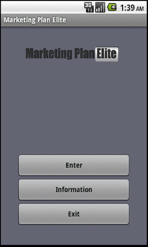 Marketing Plan App- screenshot