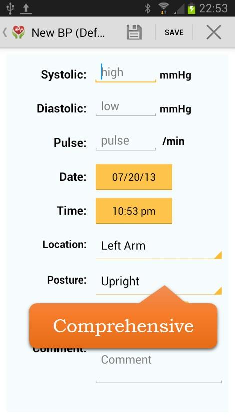 Blood Pressure (BP) Watch - screenshot