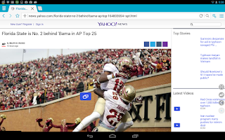 Screenshot of Boat Browser for Tablet
