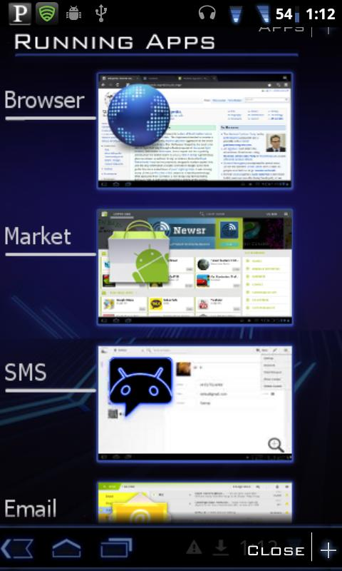 Honeycomb Launcher - screenshot
