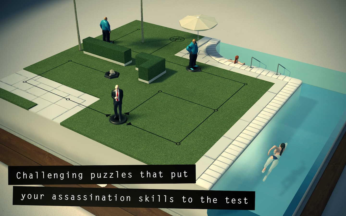 Hitman GO- screenshot