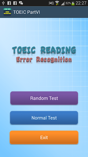 TOEIC Error Recognization FREE