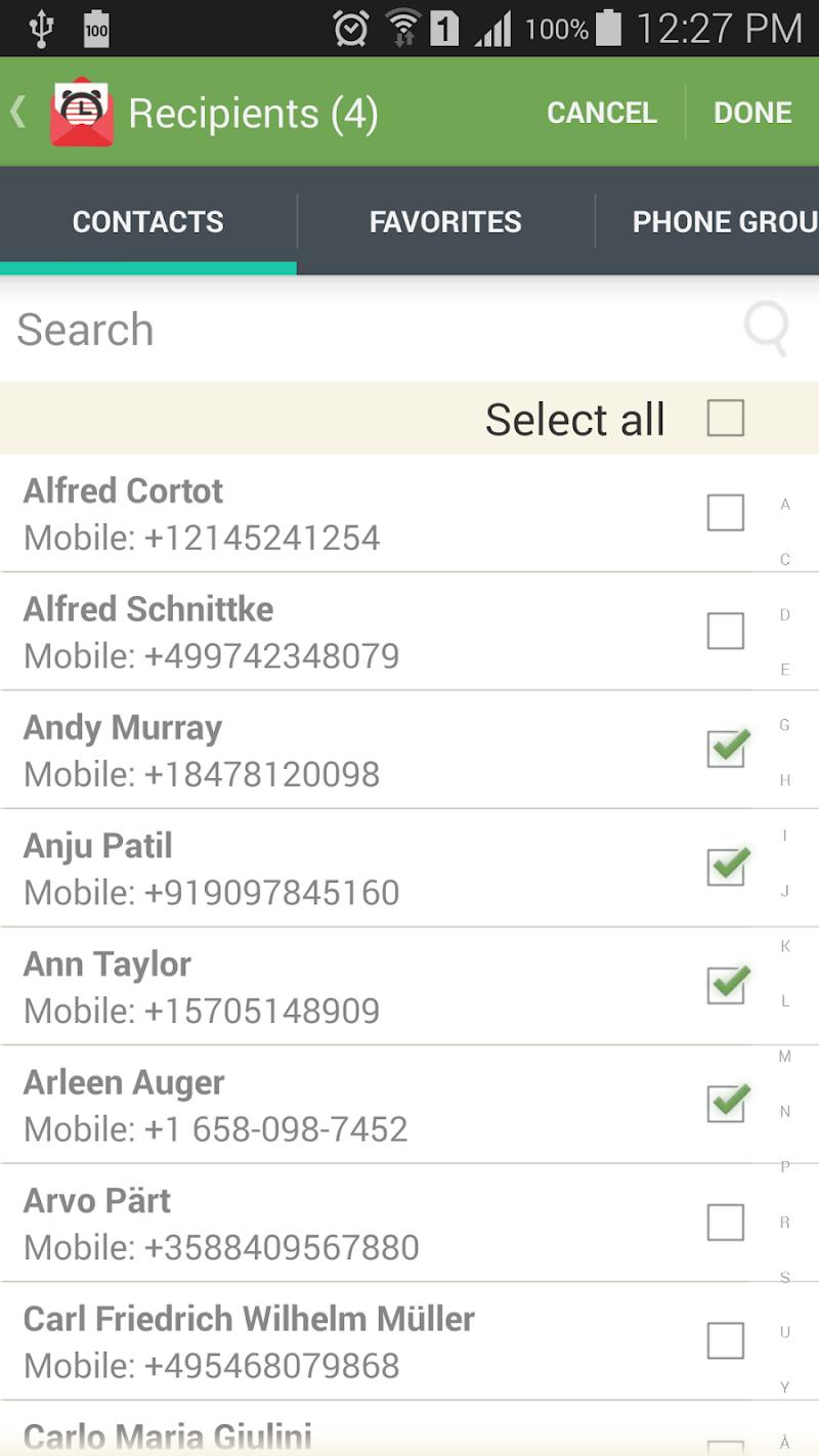 SMS-Call Scheduler Pro Screenshot 3