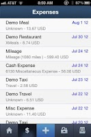 Screenshot of ExpenseCloud   Expense Reports