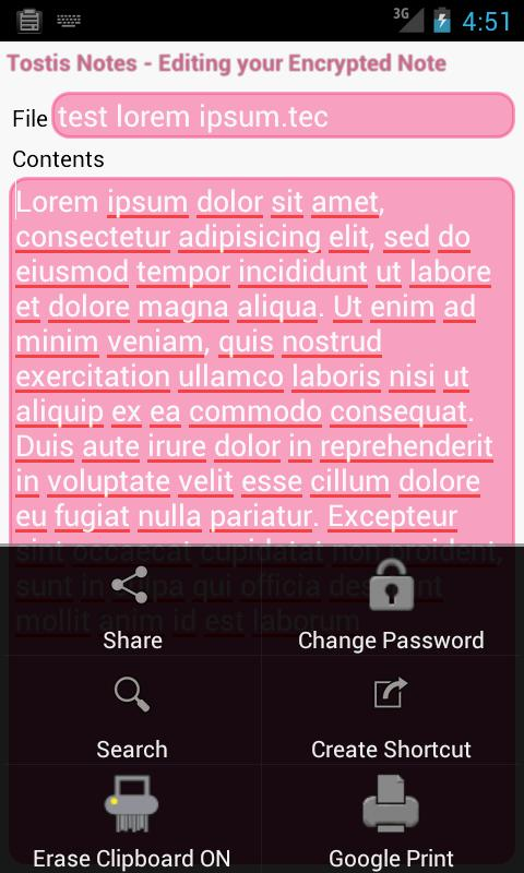Tostis Notes Lite - screenshot