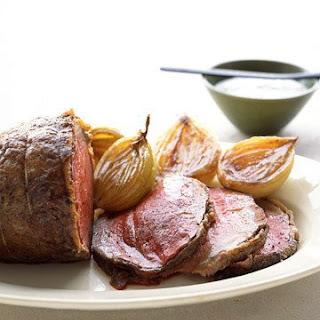 Roast Beef with Horseradish Sauce.
