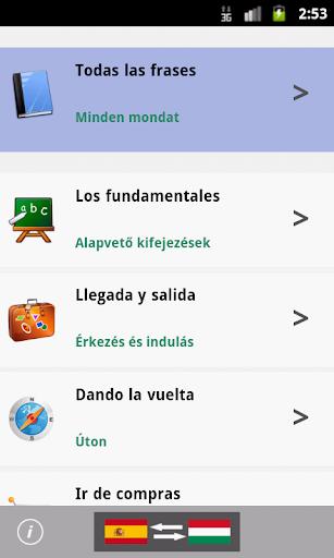 Spanish Hungarian Phrasebook