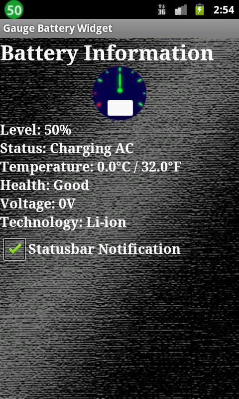 Gauge Battery Widget- screenshot
