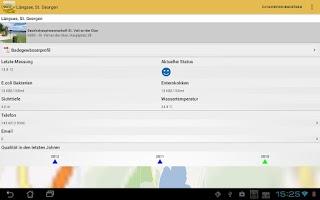 Screenshot of Database of bathing waters