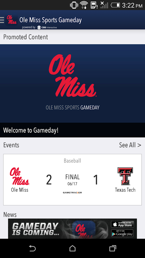 OleMissSports.com Gameday LIVE - screenshot