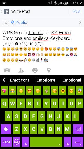 Green Emoji Keyboard