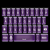 Plastic Purple Keyboard Skin
