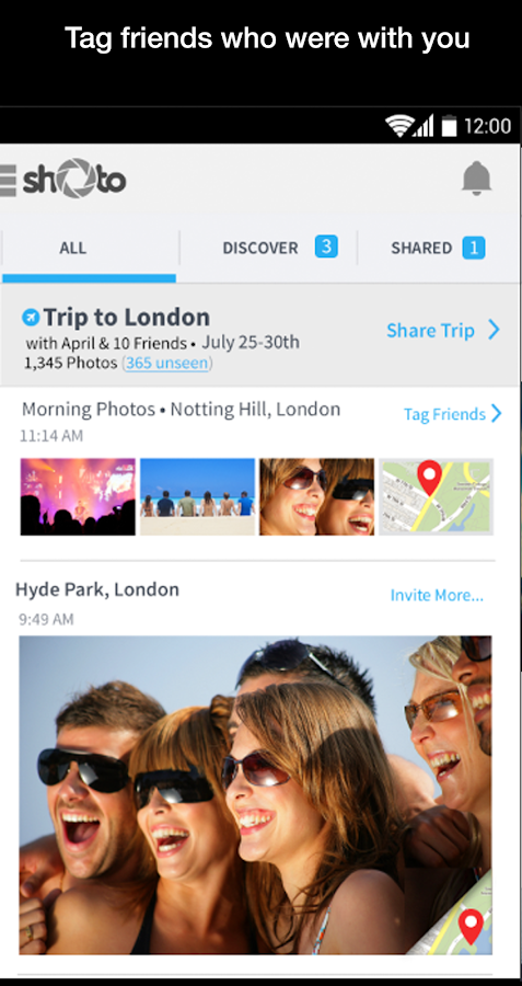 Shoto - Private Photo Sharing - screenshot