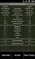 Screenshot of Tennis Stats