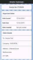 Screenshot of AndInvoice Lite
