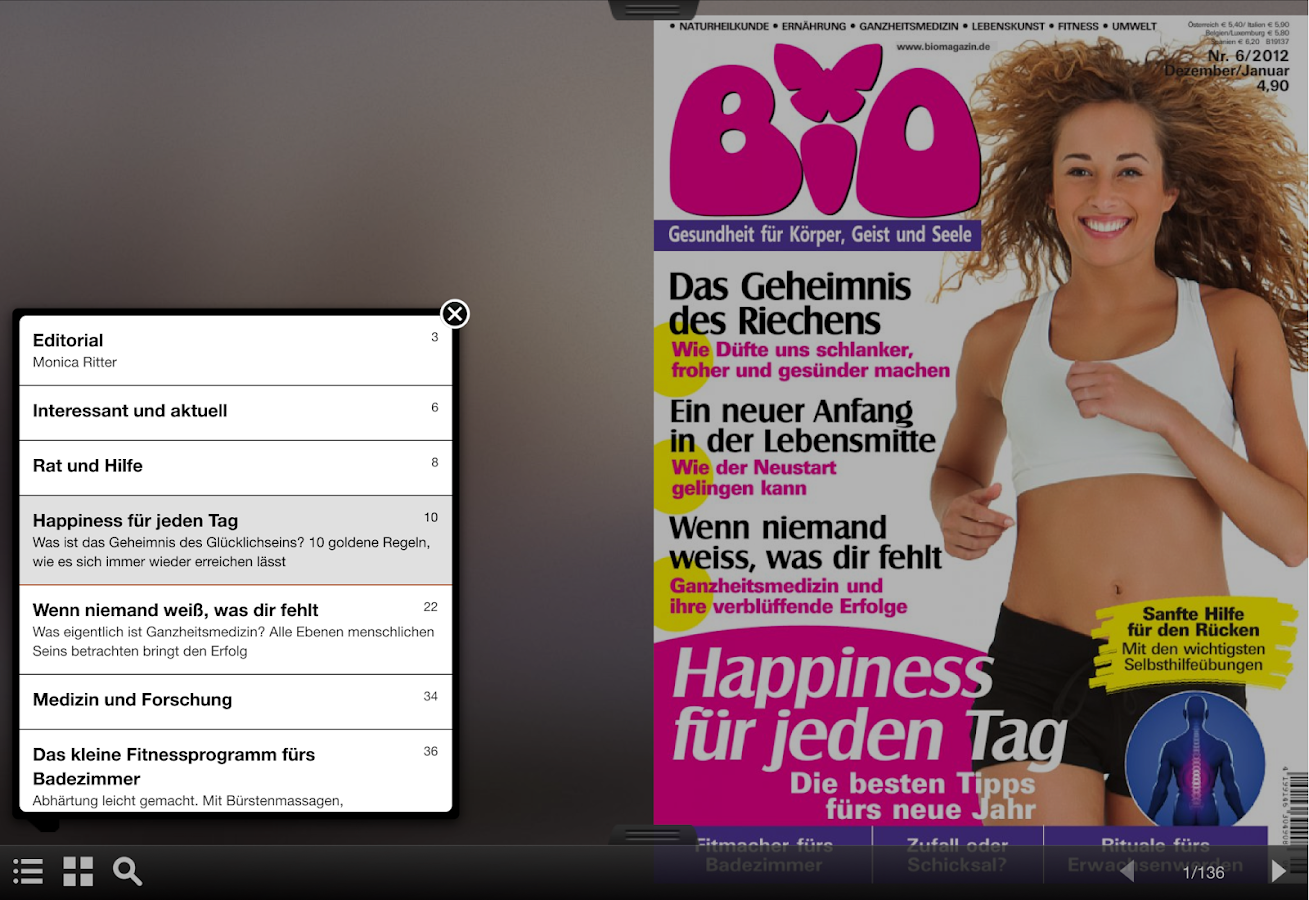 BIO Magazin- screenshot