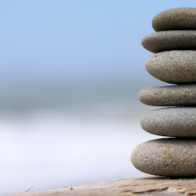 Balance by Jeff McVoy - Nature Up Close Rock & Stone ( shore, balance, smooth, balancing, pile, rock, beach, stack, rocks,  )