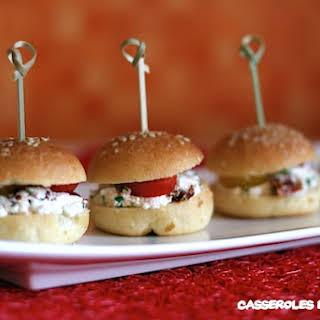 Mini Cheese Burgers.