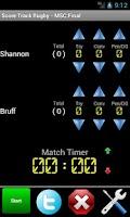 Screenshot of Score Track Rugby