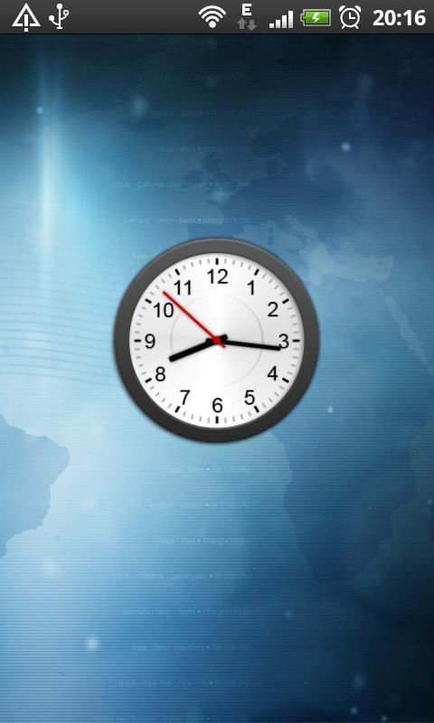 Animated Analog Clock Widget - screenshot