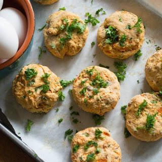 Savory sweet potato scones with bacon and Parmesan