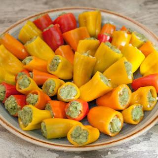 Avocado Pesto Stuffed Peppers.