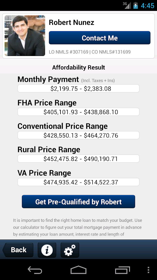 Mortgage Calculator by Robert - screenshot