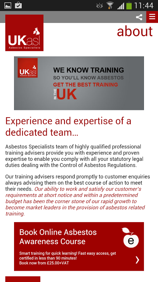 UKasl The Asbestos Specialists- screenshot