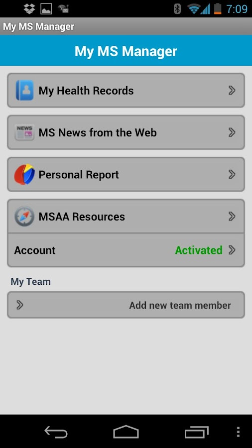 MSAA Self-Care Manager - screenshot