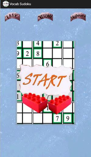 Vocab Sudoku
