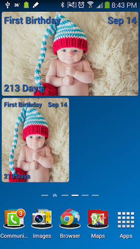 Customizable Countdown Widget