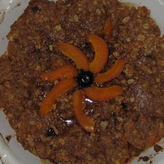 Buttery Fresh Apricot And Oat Crumble.