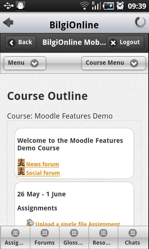 Bilgi LMS- screenshot