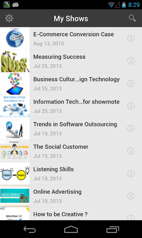 Zoho ShowMote - screenshot