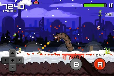 Super Mega Worm Vs Santa 2 - screenshot thumbnail