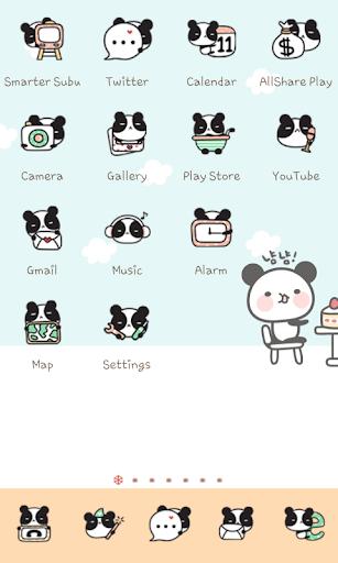 Panda Cafe icon theme