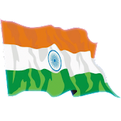Waving India Flag Widget