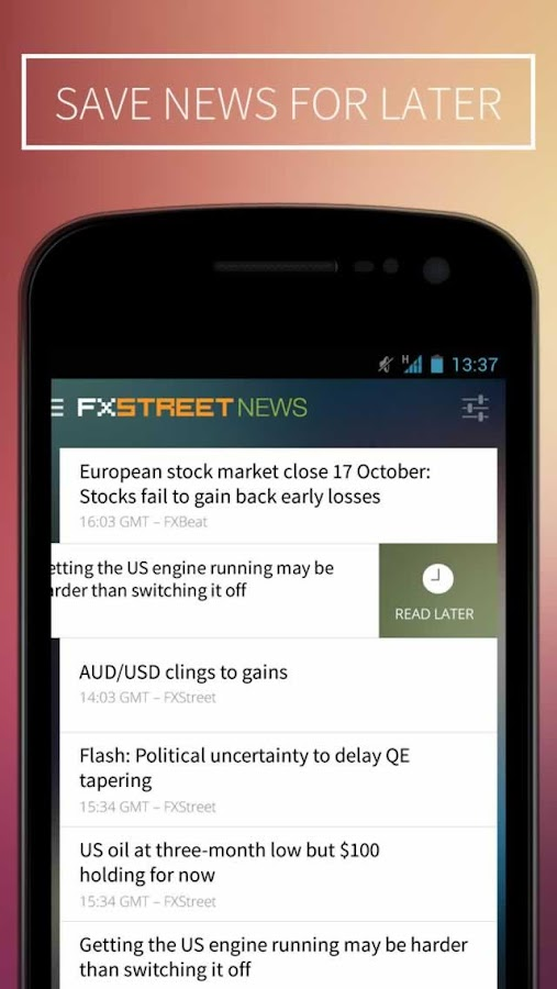 FXStreet Forex News & Calendar- screenshot