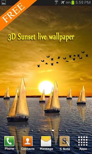 galaxy sunset wallpaper
