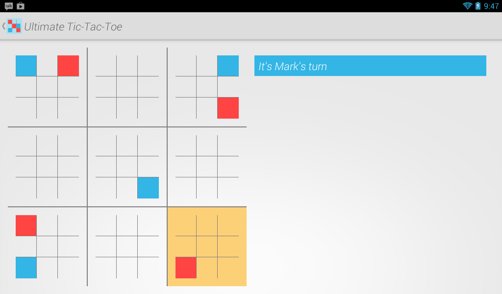 Ultimate Tic Tac Toe Online - screenshot