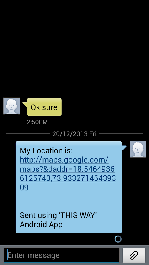 Share GPS Location PRO - screenshot
