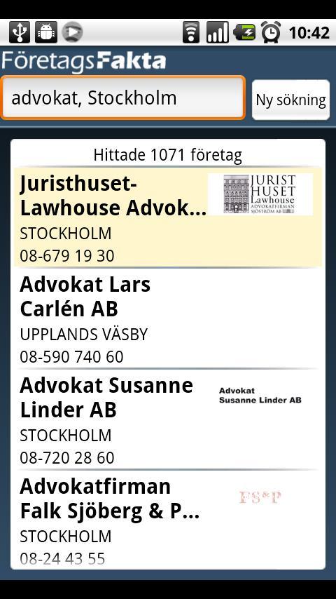 FöretagsFakta - screenshot