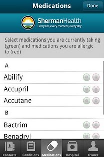 Sherman Health I.C.E. App - screenshot thumbnail