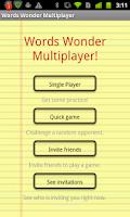 Screenshot of Words Wonder Multiplayer