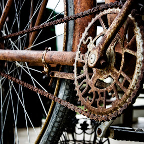 Hercules by Cassandra G - Artistic Objects Antiques ( old, bike, industrial, rusted, antique,  )