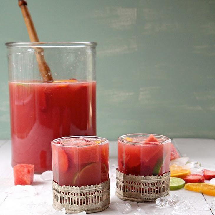 Watermelon Strawberry Citrus Sangria Recipe